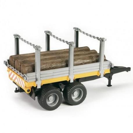 Przyczepa do transportu drewna ® - BRUDER 02213