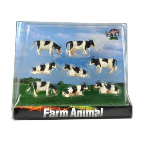Krowy czarne zestaw 8szt. GLOBE ® 571878